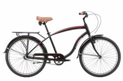 Winner - CORSA beach cruiser, черный, колеса 26¨