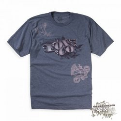 Футболка FOX Racing Counterfeit Heathered s/s Tee Grey