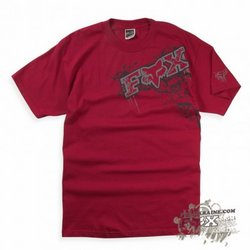 Футболка - FOX Racing - Graveyard s/s Tee Red