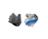 Велоперчатки Exustar CG150 Gel-Pro кожзам/лайкра/гель, бело-синие