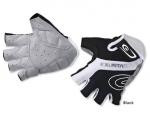 Велоперчатки Exustar CG240BK кожзам/лайкра, черные