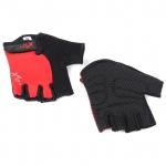 Велоперчатки X-17 XGL-525RD красно-черные