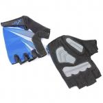 Велоперчатки X-17 XGL-554BL гелевые, сине-черные