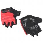Велоперчатки X-17 XGL-578RD гелевые, красно-черные