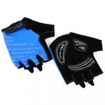 Велоперчатки X-17 XGL-578BL гелевые, сине-черные