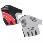 Велоперчатки X-17 XGL-552RD гелевые, красно-черные