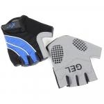 Велоперчатки X-17 XGL-552BL гелевые, сине-черные
