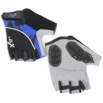 Велоперчатки X-17 XGL-558BL гелевые, сине-черные