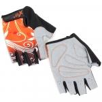 Велоперчатки - X-17 - XGL-655OR гелевые, оранжево-черные