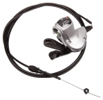 Манетка - Shimano - Манетка Alfine SL-S503 8-Speed Rapidfire Shifter, Black - See more at, серебристая