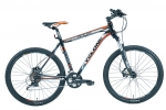 Велосипед CYCLONE DLX 2016 черно-оранжевый колеса 26¨