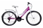 Велосипед - KINETIC - MAGNOLIA - ALU 2017 бело-розовый (колеса 26¨)