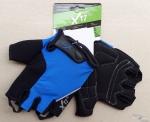 Велоперчатки X-17 XGL-524BL сине-черные