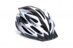 Шлем - OnRide - Grip глянцевый бело-черно-серый